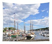 Camden Maine Harbor Tapestry