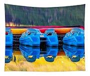 Cameron Lake Paddle Boats Tapestry