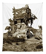 Camouflage Observation Tower Near Asilomar And The Point Pinos Lighthouse 1941 Tapestry