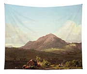 Camp Fire In The Maine Wilderness Tapestry