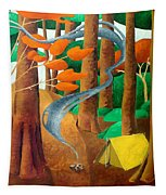 Camping - Through The Forest Series Tapestry