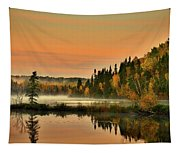 Canadian Autumn Sunrise Tapestry