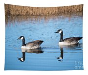 Canadian Geese Couple Tapestry