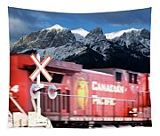 Canadian Pacific Trail Slices Through The Rockies Tapestry