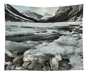Canadian Rockies Rugged Winter Landscape Tapestry