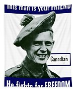 Canadian This Man Is Your Friend Tapestry