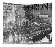 Canadian Wwi Nostalgic Collage Tapestry