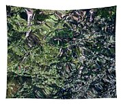 Canal Reflections Abstract Tapestry