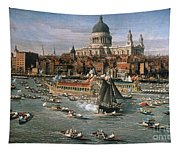 Canaletto: Thames, 18th C Tapestry