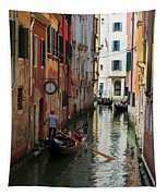 Canals Of Venice Italy Tapestry
