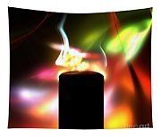 Candle And Colors Tapestry