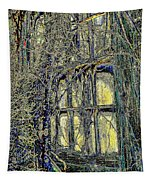 Candles In The Window Tapestry