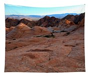 Candy Cliffs Sunset Tapestry