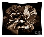 Candy Stripe Rose Sepia  Tapestry