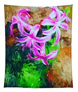 Candy Striped Hyacinth  Tapestry