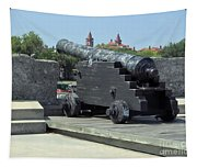 Cannon At The Castillo Tapestry