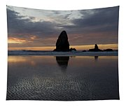 Cannon Beach At Sunset 7 Tapestry