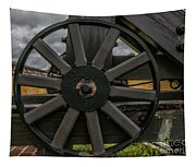 Cannon Wheel Tapestry