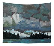Canoe Lake Rain Tapestry