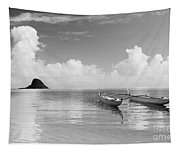Canoe Landscape - Bw Tapestry
