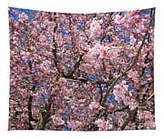 Canvas Of Pink Blossoms Tapestry