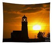 Cape Blanco Lighthouse Sunset 2 Tapestry