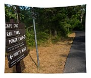 Cape Cod Rail Trail Sign Eastham Path Tapestry