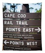 Cape Cod Rail Trail Sign Eastham Tapestry
