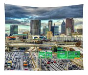 Capital Of The South Atlanta Skyline Cityscape Art Tapestry