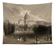 Capitol Of The Unites States, Washington D C Tapestry