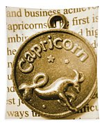 Capricorn Zodiac Lucky Charm Tapestry
