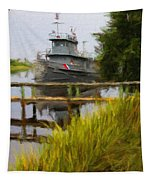 Captains Boat Tapestry