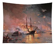 Capture Of New Orleans By Union Flag Officer David G Farragut Tapestry