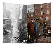 Car Accident - Watch For Ice 1921 - Side By Side Tapestry