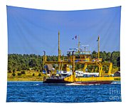 Car Ferry Tapestry