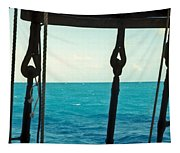 Caribbean From A Square Rigger Tapestry