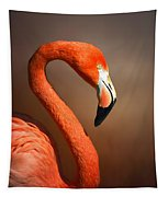 Caribean Flamingo Portrait Tapestry