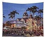 Carlsbad Village Sign Lighting Tapestry