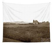 Carmel Mission Circa 1885 Tapestry