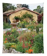 Carmel Mission Courtyard Garden Tapestry