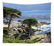 Carmel Seaside With Cypresses Tapestry