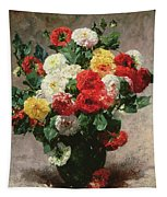 Carnations In A Vase Tapestry
