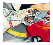 Carousel Horses Tapestry