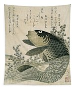 Carp Among Pond Plants Tapestry