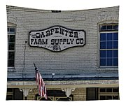 Carpenter Farm Supply Co Sign Tapestry