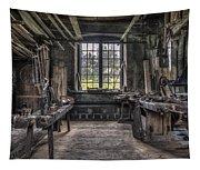 Carpenters Workshop In Gammelstilla, Sweden Tapestry