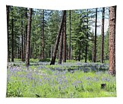 Carpet Of Lupine In Washington Forest Tapestry