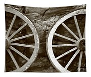 Cart Wheels Tapestry