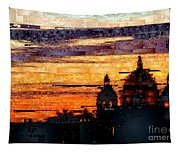 Cartagena Colombia Night Skyline Tapestry