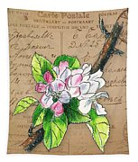 Carte Postale. Blossoming Apple Tapestry